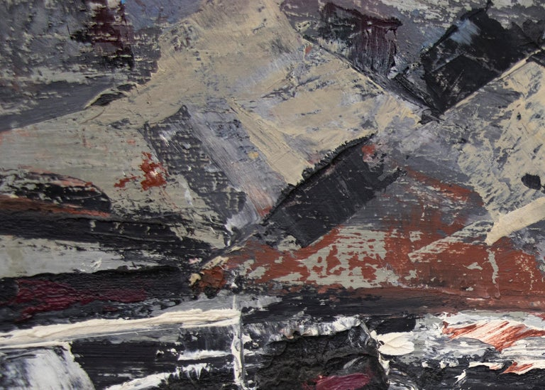 Untitled (Colorado Mountains) - Abstract Painting by Charles Ragland Bunnell