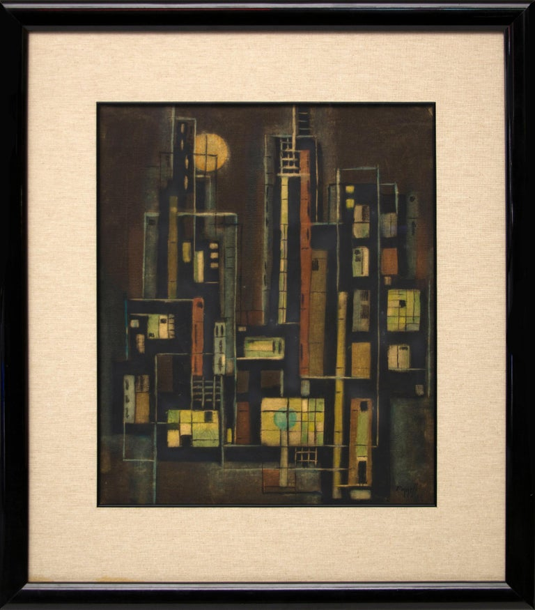 Untitled (New York City Abstract) - Painting by Charles Ragland Bunnell