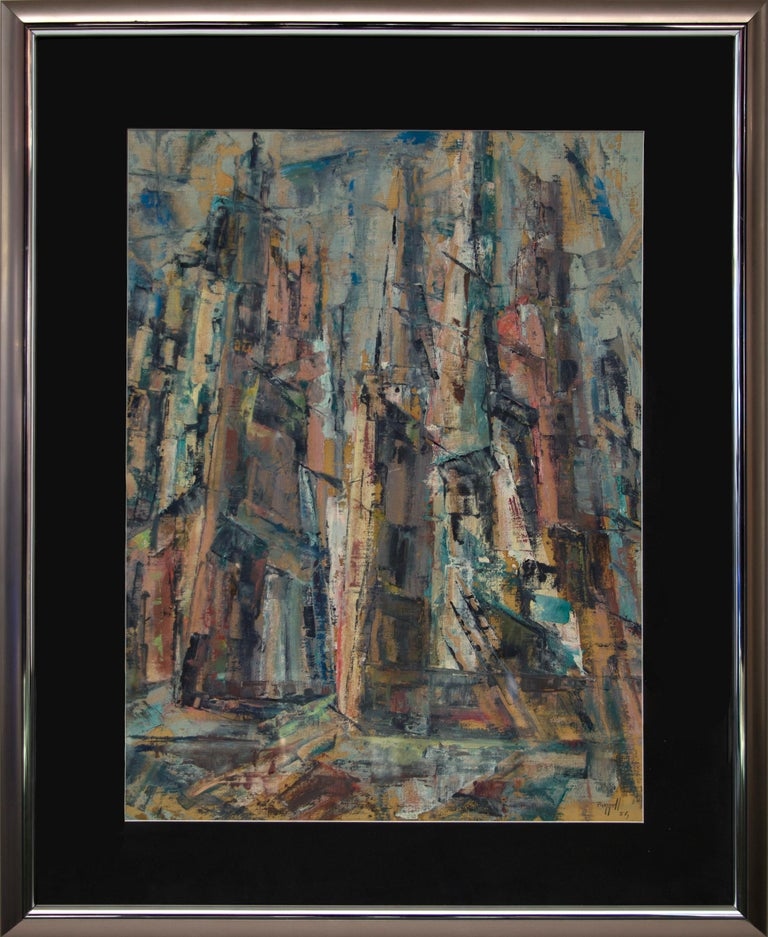 Untitled (New York City) - Painting by Charles Ragland Bunnell
