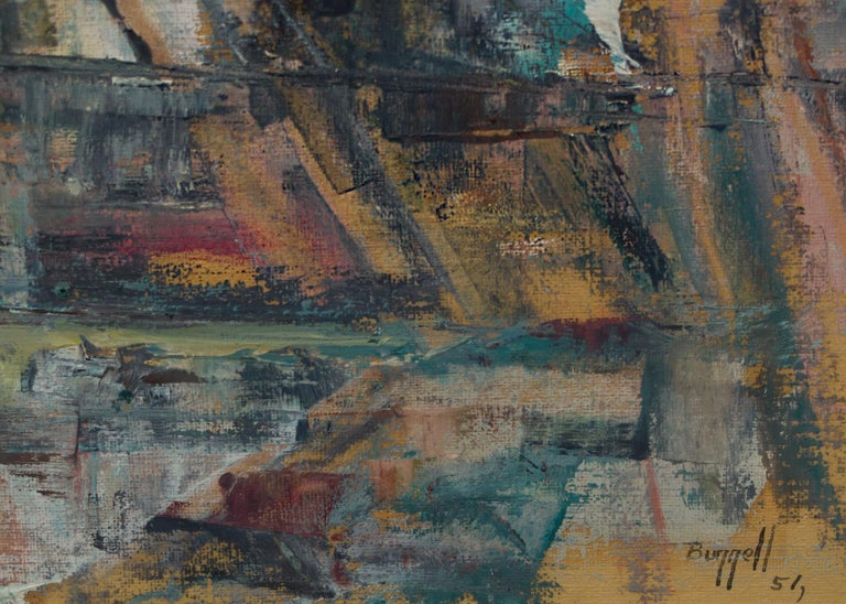 Untitled (New York City) - Abstract Expressionist Painting by Charles Ragland Bunnell