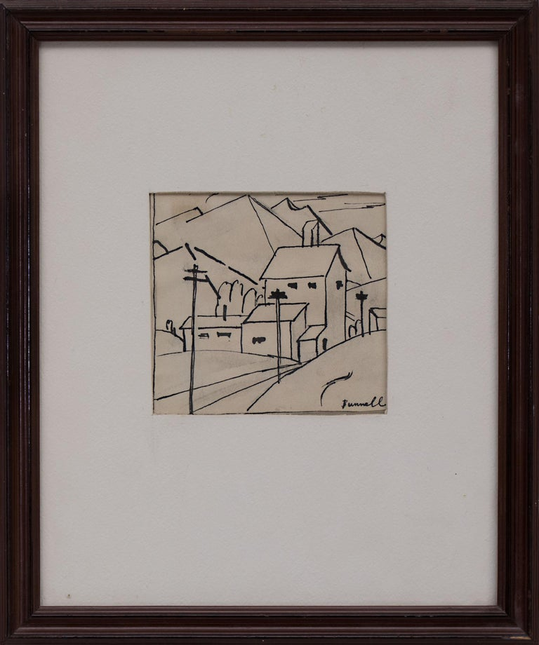 Untitled (Study of a Mountain Town, Colorado) - Painting by Charles Ragland Bunnell