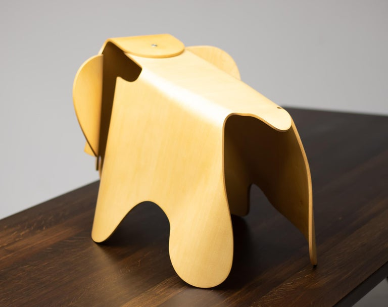 Mid-Century Modern Charles & Ray Eames Anniversary Edition Plywood Elephant For Sale