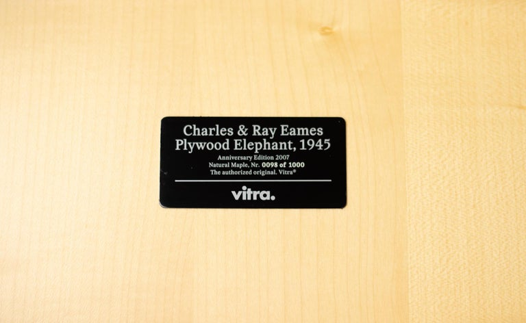 Charles & Ray Eames Anniversary Edition Plywood Elephant In Excellent Condition For Sale In Dronten, NL