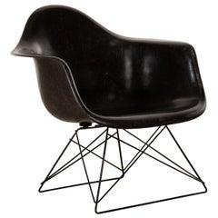 Charles & Ray Eames Black LAR Lounge Chair, Herman Miller, 1960s