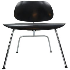 Charles & Ray Eames Black Original Plywood Group LCM Chair for Vitra, 1999