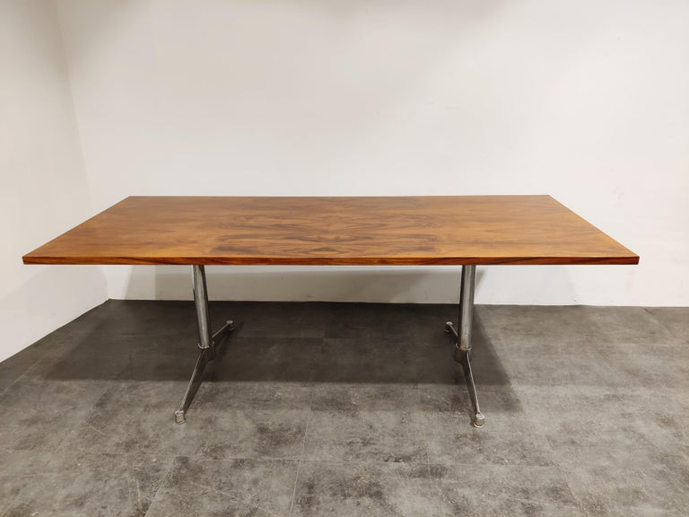 Vintage dining table, conference table or even desk table by Charles and Ray Eames for Herman Miller.  This table was added to the Herman Miller portfolio in 1961 but The manufacture of the series would only last for a few years and thus are quite