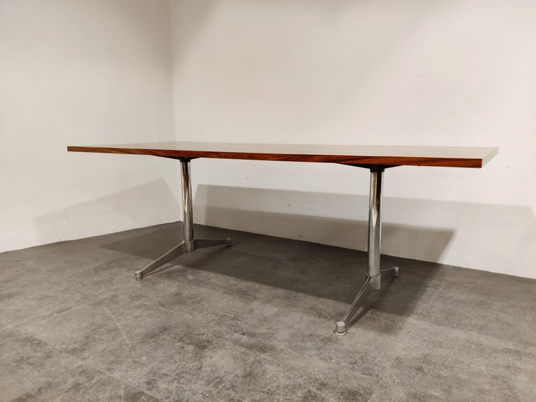Mid-Century Modern Charles & Ray Eames Dining Table or Conference Table, 1960s For Sale