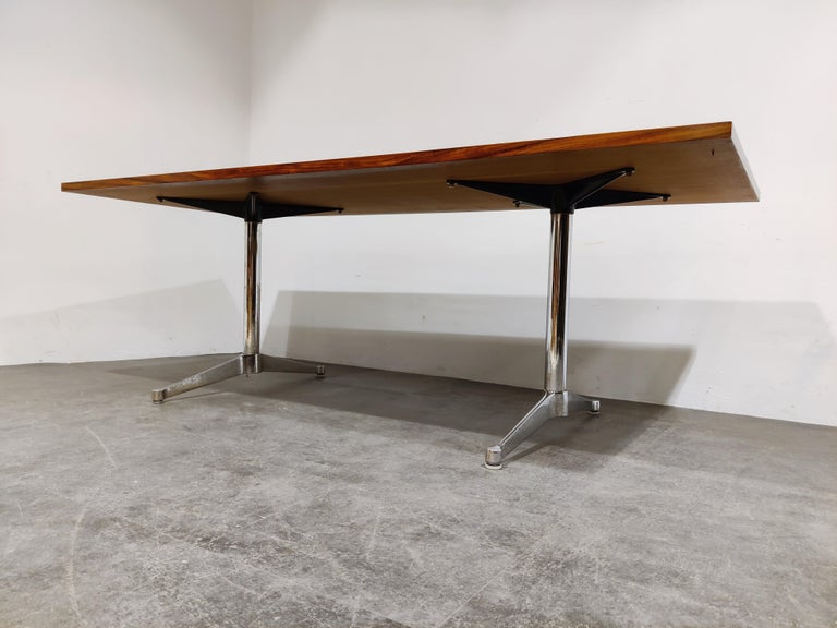 Charles & Ray Eames Dining Table or Conference Table, 1960s In Good Condition For Sale In Ottenburg, BE