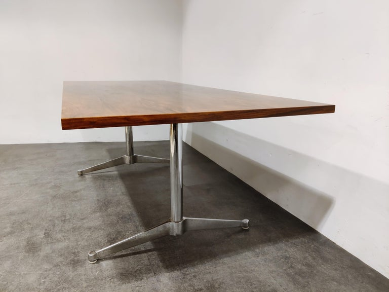 Mid-20th Century Charles & Ray Eames Dining Table or Conference Table, 1960s For Sale