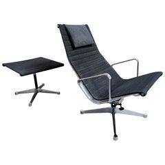 Charles & Ray Eames EA124 and EA125 Lounge Chair and Ottoman