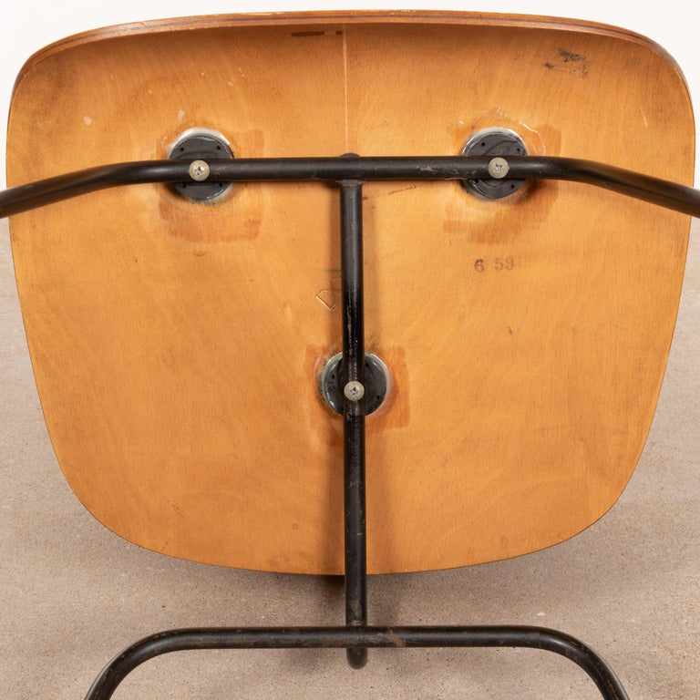 Charles & Ray Eames Early 1953 DCM Maple Side Chair Dining Set by Herman Miller For Sale 7