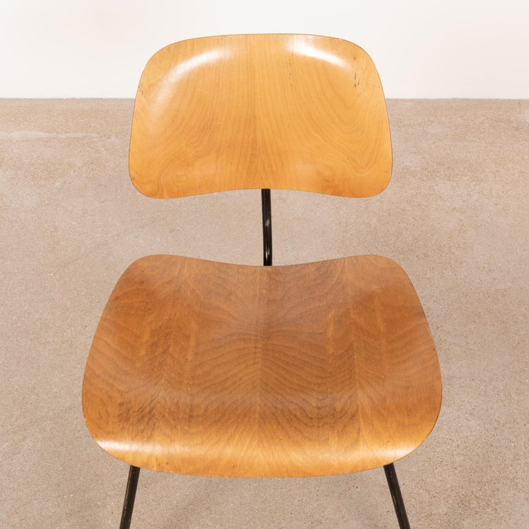 Charles & Ray Eames Early 1953 DCM Maple Side Chair Dining Set by Herman Miller In Fair Condition For Sale In Amsterdam, NL