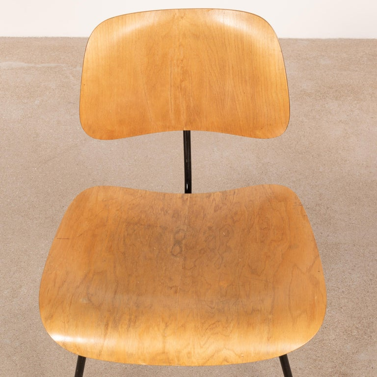 Metal Charles & Ray Eames Early 1953 DCM Maple Side Chair Dining Set by Herman Miller For Sale