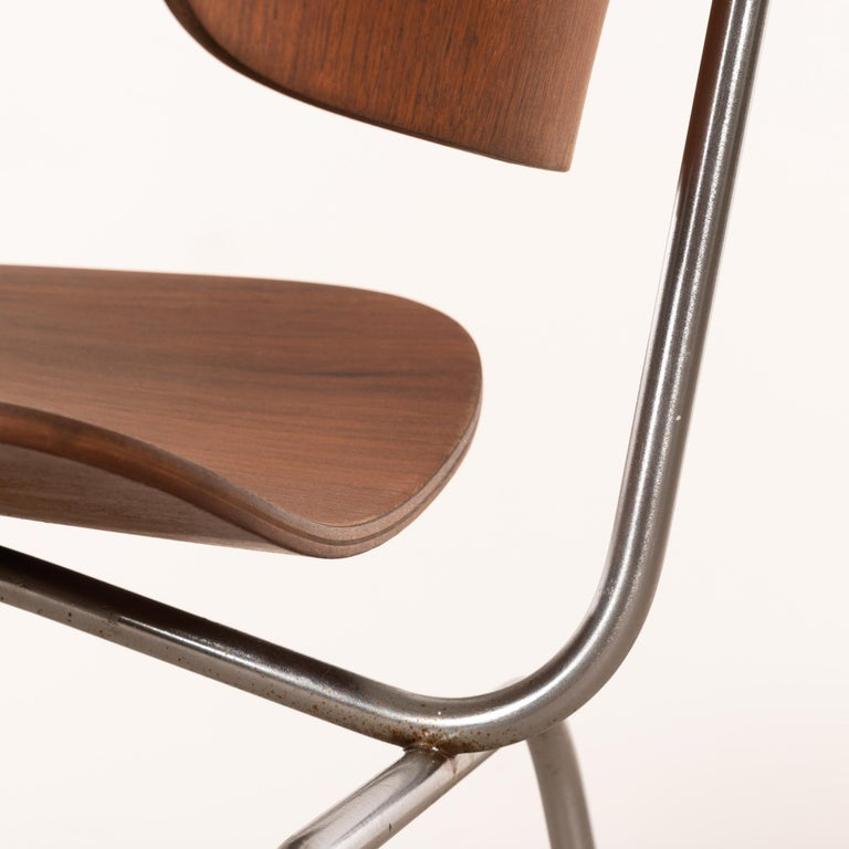 Charles & Ray Eames Early DCM Walnut Side Chair by Herman Miller, USA 10