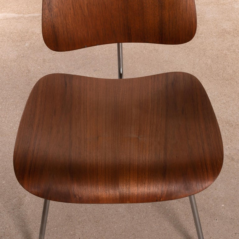 Charles & Ray Eames Early DCM Walnut Side Chair by Herman Miller, USA 1