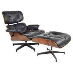 Charles & Ray Eames for Herman Miller MCM Rosewood Lounge Chair and Ottoman