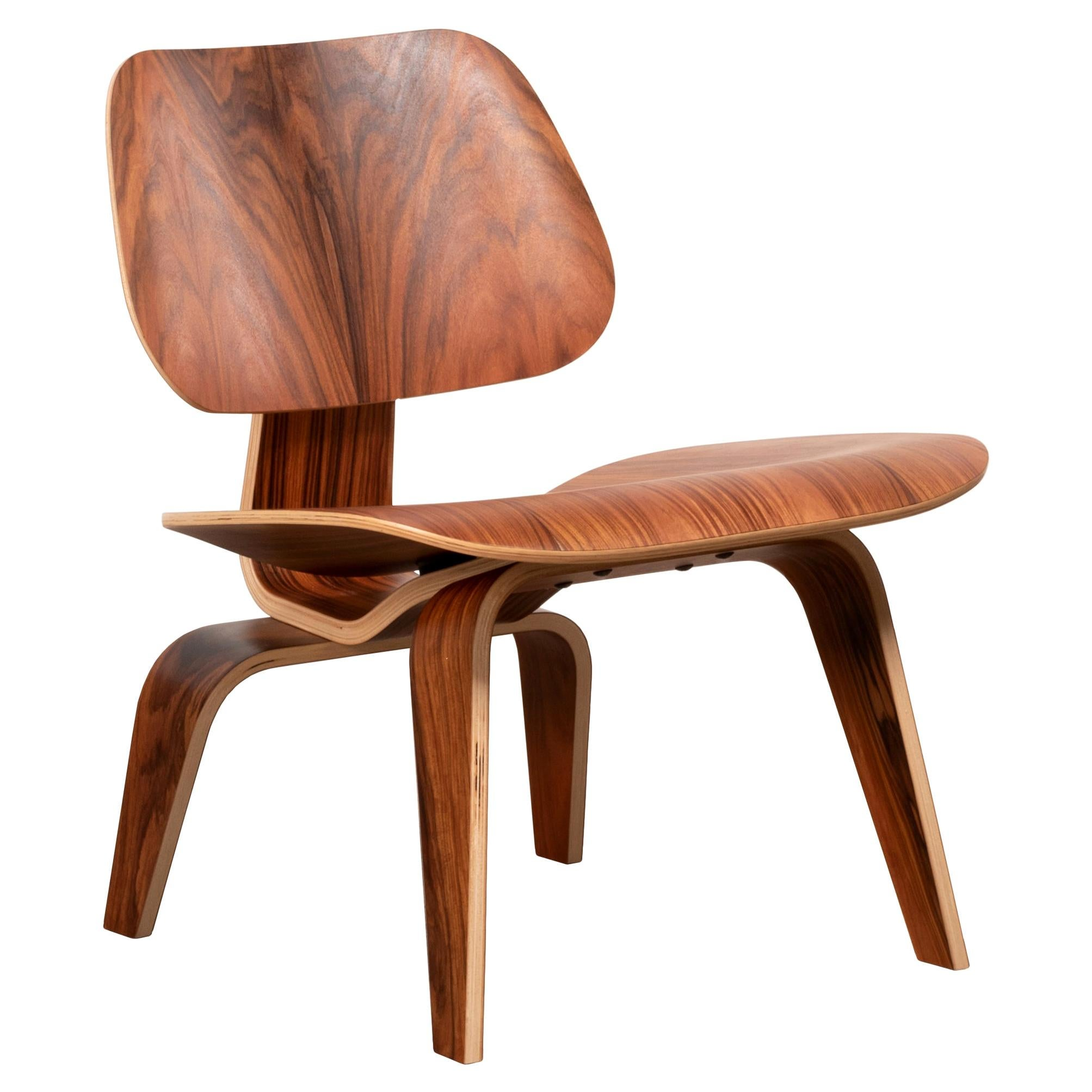 Charles & Ray Eames LCW Santos Palisander Lounge Chair for Herman Miller