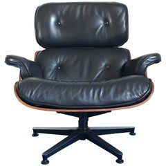 Charles Ray Eames Lounge Chair 670, Black Leather