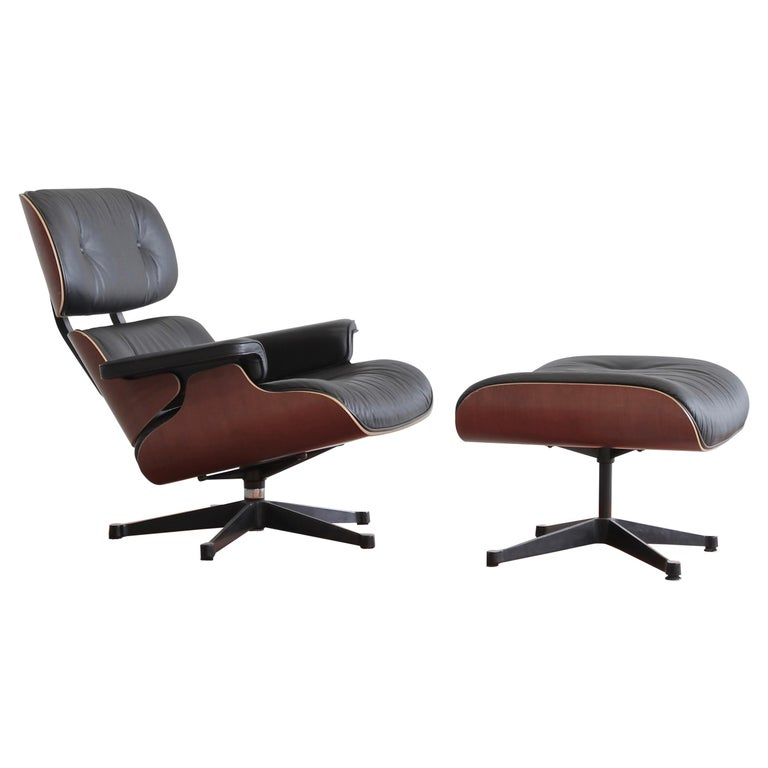 Charles & Ray Eames Lounge Chair and Footstool, Vitra 1999 For Sale