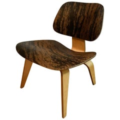 Charles Ray Eames Plywood Lounge Chair, LCW, Slunk Skin, Herman Miller, 1953
