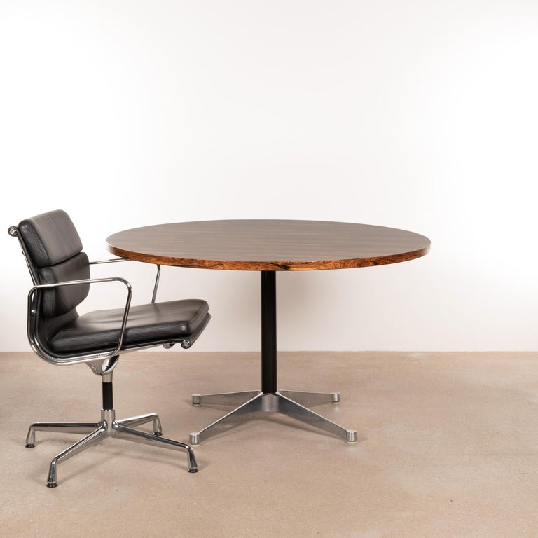 American Charles & Ray Eames Rosewood Dining Table with Contract Base for Herman Miller For Sale