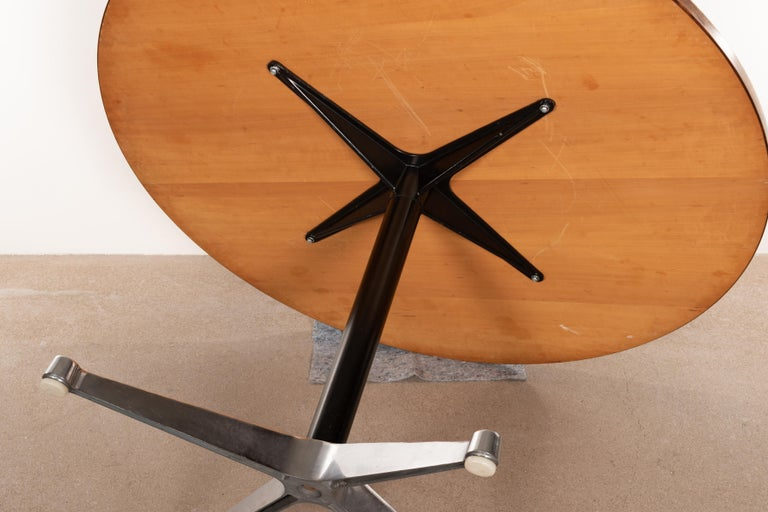 Charles & Ray Eames Rosewood Dining Table with Contract Base for Herman Miller For Sale 1