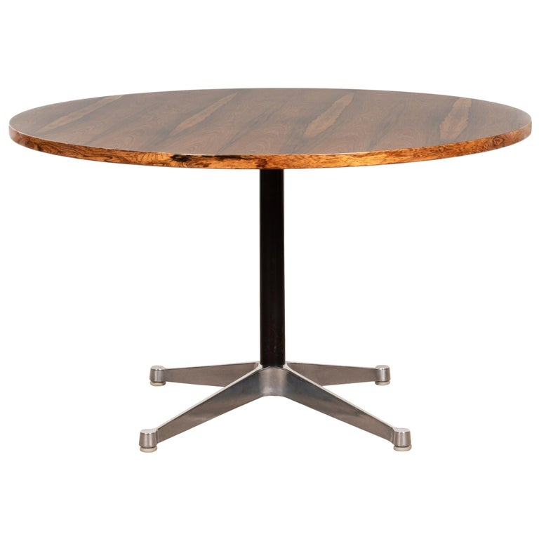 Charles & Ray Eames Rosewood Dining Table with Contract Base for Herman Miller For Sale