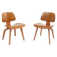 Charles & Ray Eames Two-Tone DCW Chairs for Evans