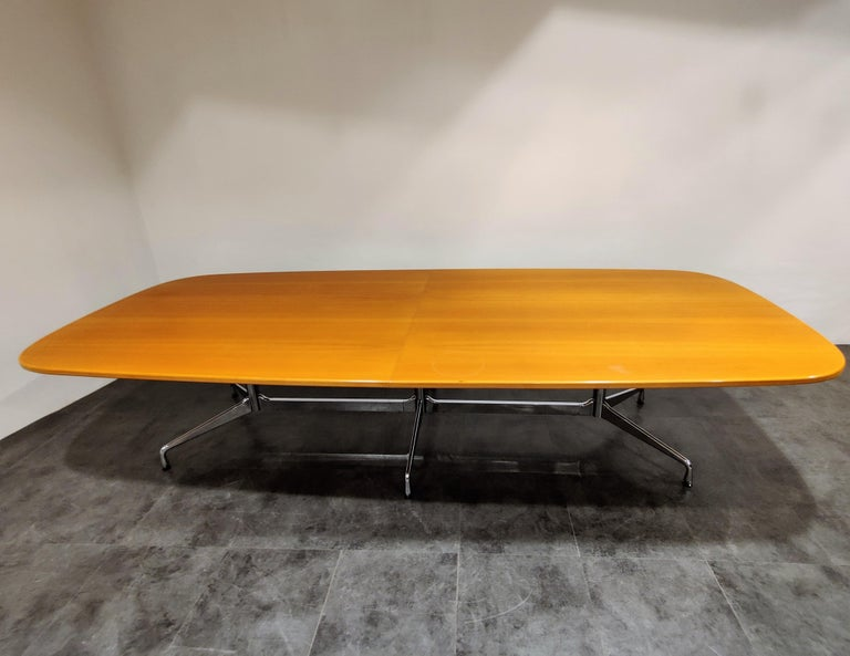 Massive conference table by Charles and Ray Eames produced by vitra.