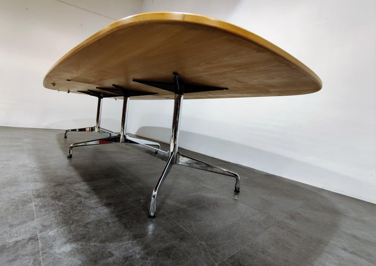 Late 20th Century Charles and Ray Eames, Vitra Segmented Dining or Conference Table, 1990s For Sale