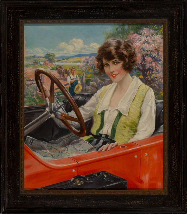 The Summer Girl - Painting by Charles Relyea