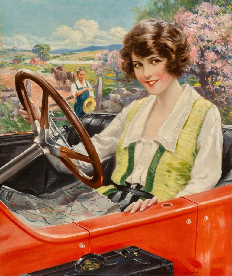 Charles Relyea Figurative Painting - The Summer Girl