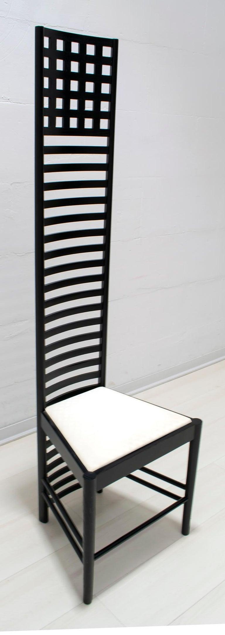 Art Nouveau Charles Rennie Mackintosh High Back Chairs