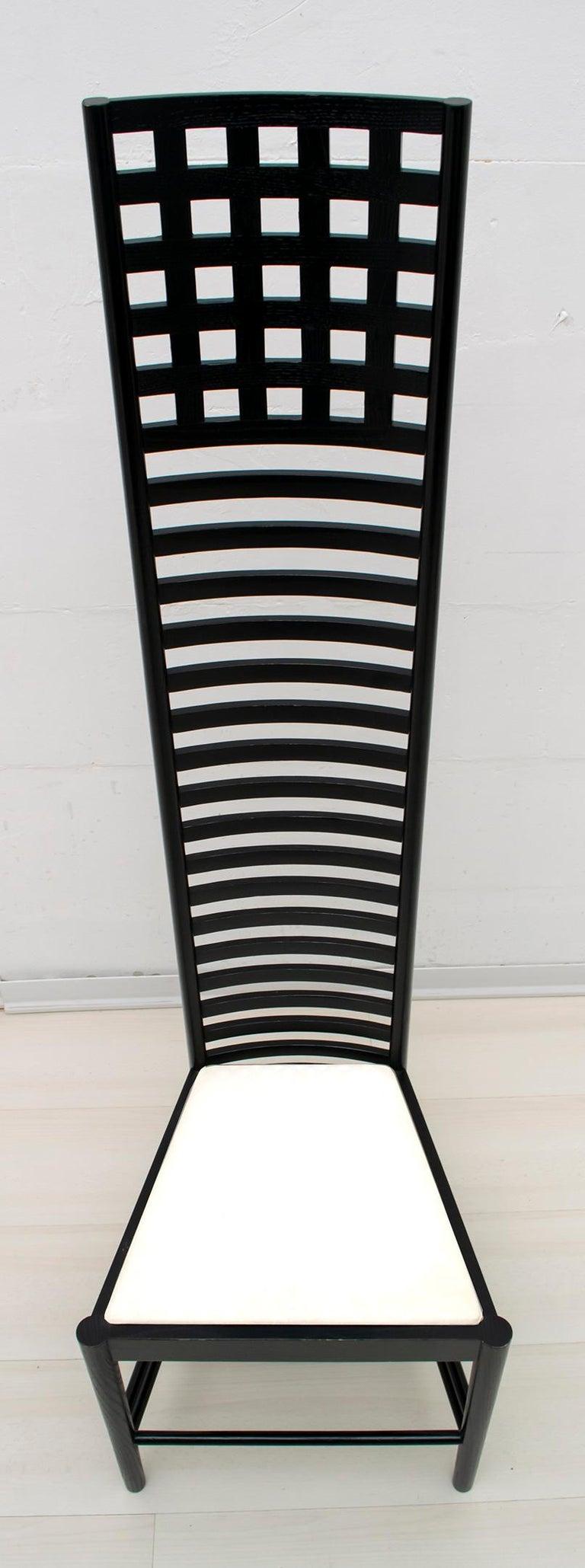 Italian Charles Rennie Mackintosh High Back Chairs