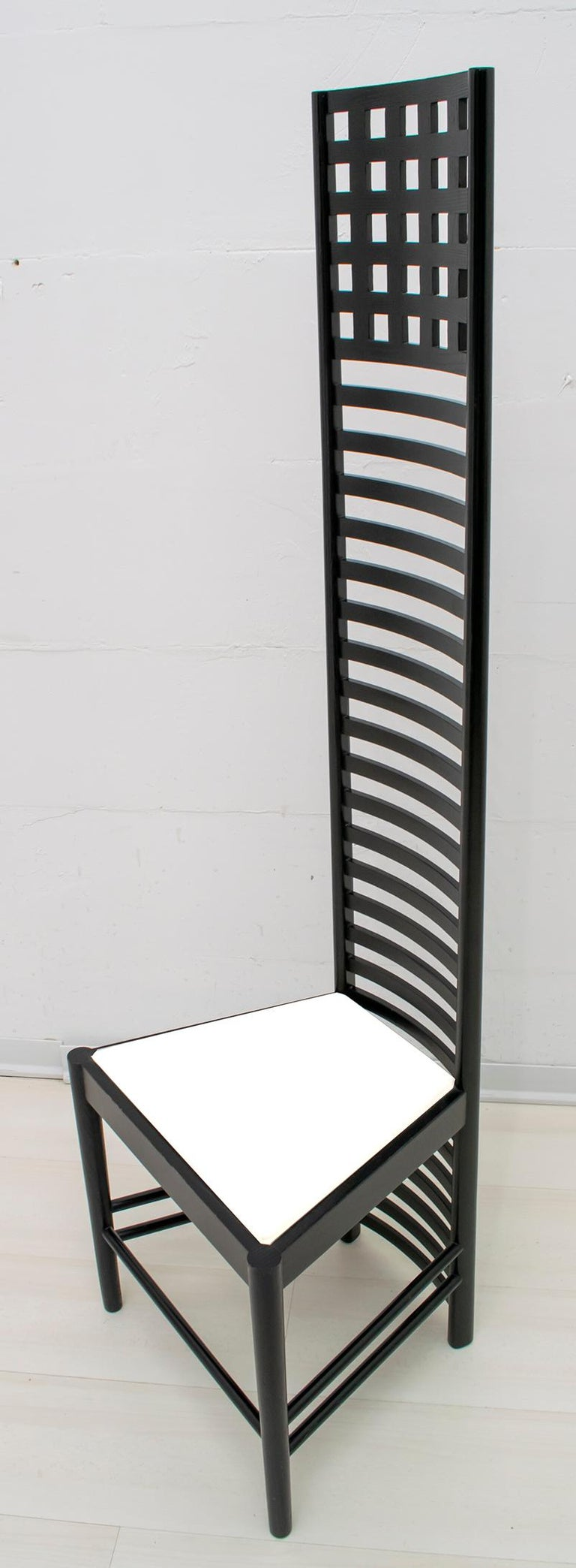 Ebonized Charles Rennie Mackintosh High Back Chairs