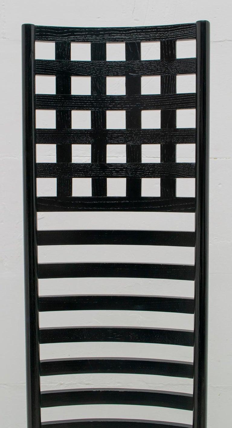 Late 20th Century Charles Rennie Mackintosh High Back Chairs