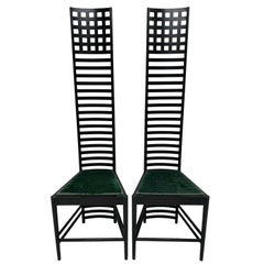 "Charles Rennie Mackintosh ""Hill House 1"" Chairs for Cassina, a Pair"