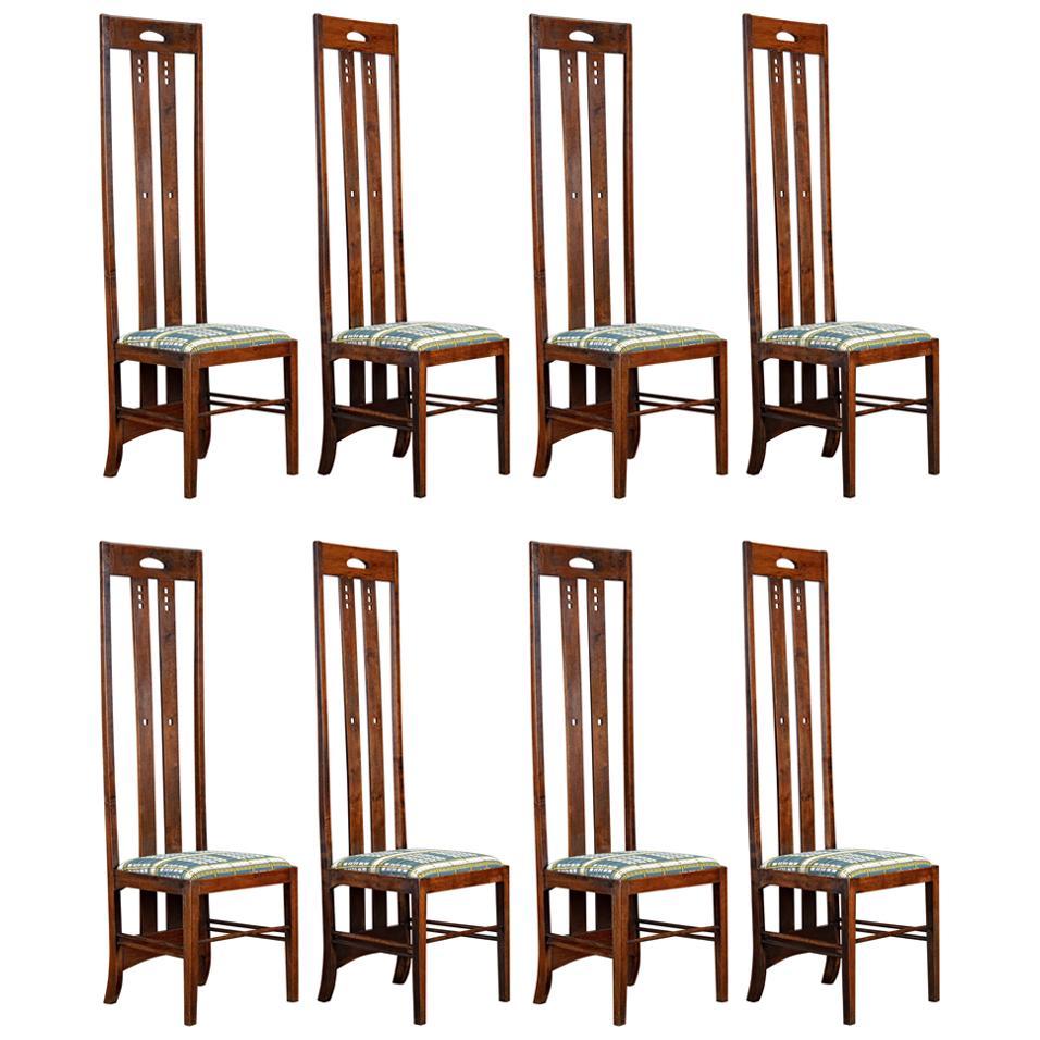 Charles Rennie Mackintosh Set of 8 Chairs