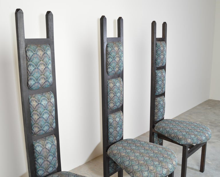 American Charles Rennie Mackintosh Style Custom High Back Contemporary Dining Chairs