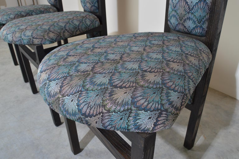 Blackened Charles Rennie Mackintosh Style Custom High Back Contemporary Dining Chairs
