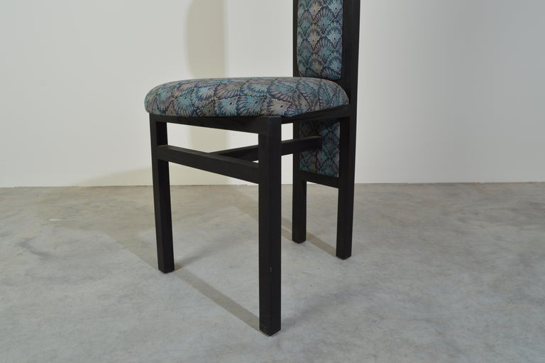 Late 20th Century Charles Rennie Mackintosh Style Custom High Back Contemporary Dining Chairs