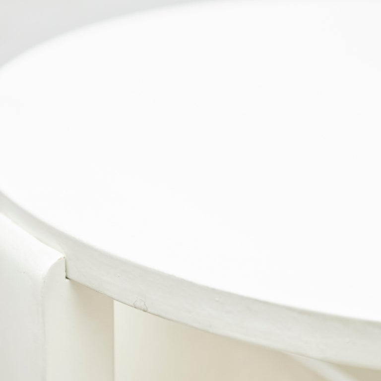 Charles Rennie Mackintosh White Lacquered Domino Side Table, circa 1970 For Sale 3