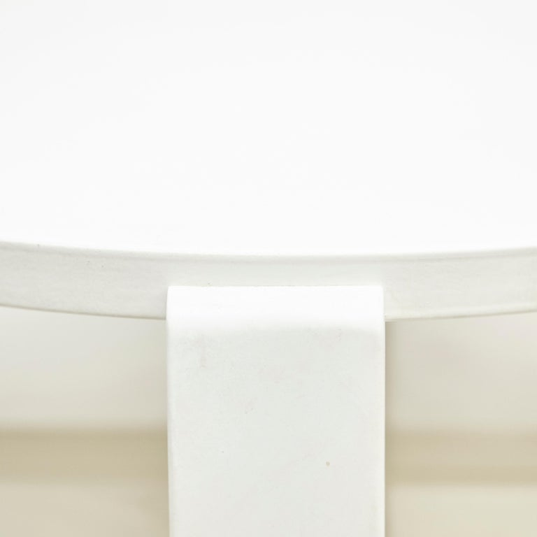 Charles Rennie Mackintosh White Lacquered Domino Side Table, circa 1970 For Sale 4
