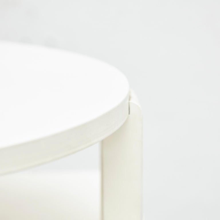 Charles Rennie Mackintosh White Lacquered Domino Side Table, circa 1970 For Sale 5
