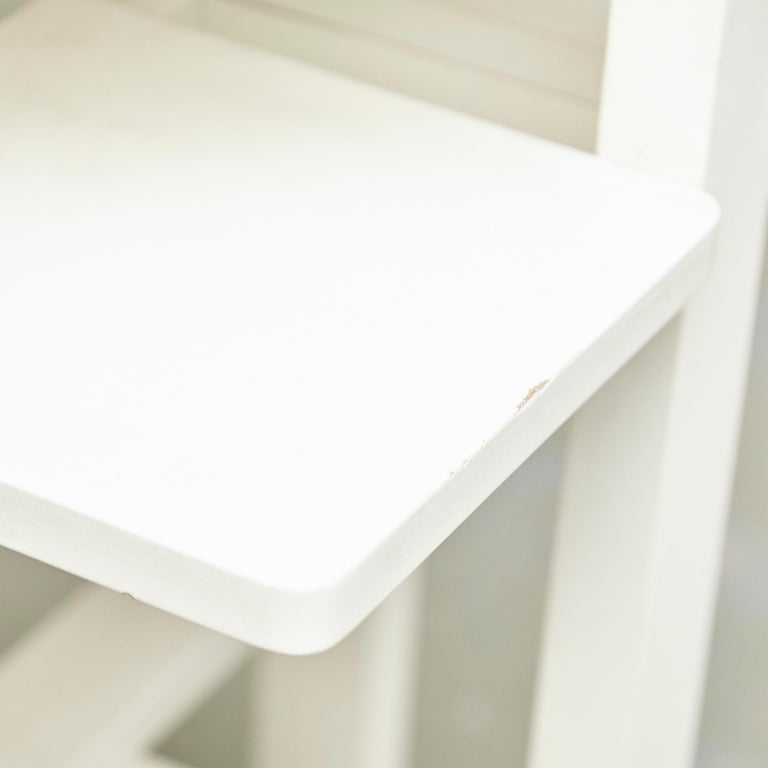 Late 20th Century Charles Rennie Mackintosh White Lacquered Domino Side Table, circa 1970 For Sale