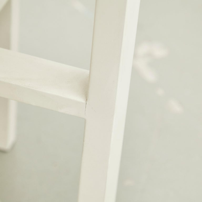 Wood Charles Rennie Mackintosh White Lacquered Domino Side Table, circa 1970 For Sale