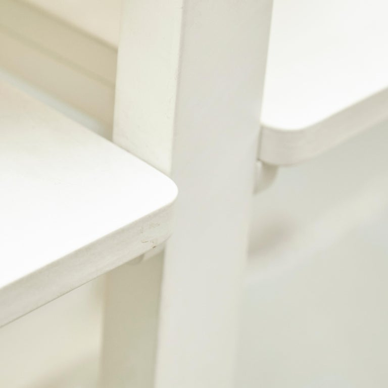 Charles Rennie Mackintosh White Lacquered Domino Side Table, circa 1970 For Sale 2