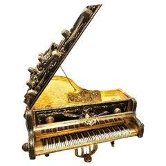 "Charles Reuge, Antique ""Rococo Grand Piano"" Music Box, Switzerland, circa 1900"