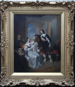 Happy Days of Charles I Family Portrait - British Victorian art oil painting