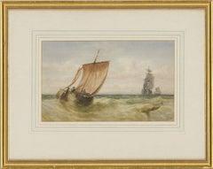 Attrib. Charles Robertson, RA, RWS (1844-1891) - 1867 Watercolour, Ships at Sea